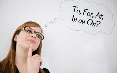 5 Preposições em Inglês mais Usadas